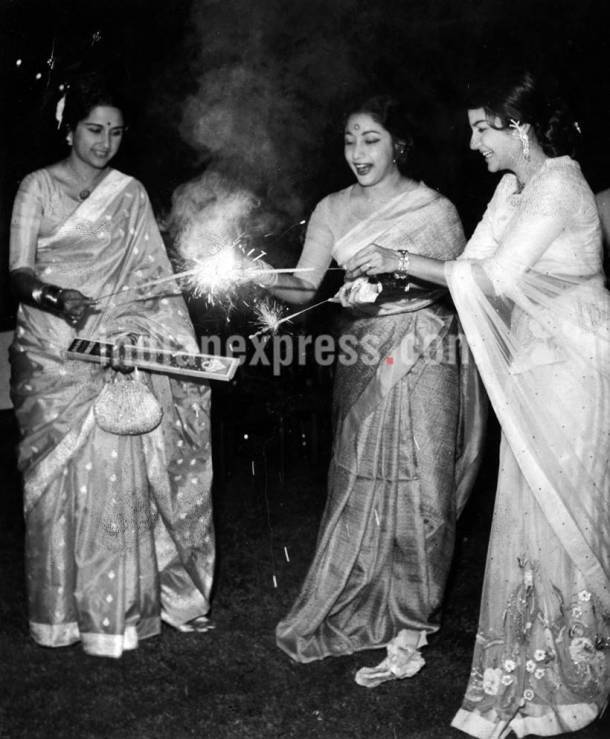 Bina Rai, bina rai photos, mala sinha images, mala sinha bina rai photos, mala sinha old photos, diwali photos, diwali images