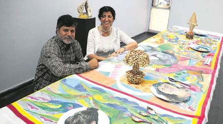 Madan Lal and Shirley Siegal, Chandigarh art exhibition, India news, National news, Latest news, India news, Art exhibition in Chandiagrh