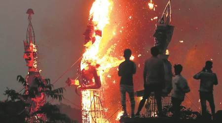 Dussehra celebrations across tricity: Effigies burnt at over 50 locations
