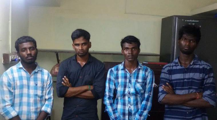 Chennai, Presidency College students arrested, Students with weapons arrested, Presidency students arrested, Chennai news, Indian Express