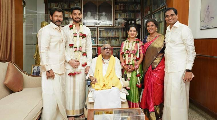 Vikram's Daughter Marries Karunanidhi's Great-Grandson