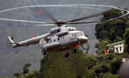 IAF chopper crashes in Assam, two pilots killed