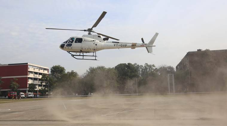 According to eyewitnesses, Kamal Nath's helicopter landed in a field at Kodsa village in Narsinghpur district. Later, he realised that he had landed at a wrong place and immediately took off for Jhoteshwar in Gotegaon area. (Representational)