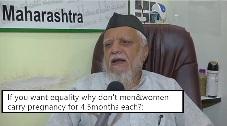 want equality share pregnancy, cleric's absurd pregnancy statement, The Secretary of the Jamiat Ulama absurd statement, Indian express, Indian express news