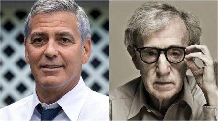 George Clooney hits out at Woody Allen's 'witch-hunt' comment on Harvey Weinstein