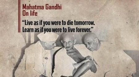 mahatma gandhi, gandhi jayanti, gandhi jayanti 2017, 2 october, october 2, quotes by gandhi, gandhi's birthday, gandhi on ahimsa, gandhi on caste, gandhi on nation, international non violence day, international peace day, indian express, indian express news
