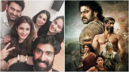 Raveena Tandon parties with Baahubali stars in Hyderabad, shares her joy on Instagram