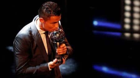 Cristiano Ronaldo, FIFA Best player award, Buffon, Zinedine Zidane, FIFA World XI, FIFA Awards photos, Ronaldo FIFA best player 2017, Football news, indian Express