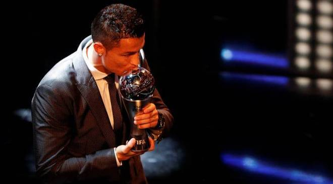 Cristiano Ronaldo equals Lionel Messi with five FIFA Player of the Year Awards