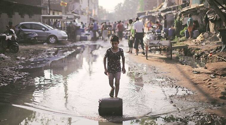 South Delhi slum, South Delhi slum water wars, Delhi slum water wars, water wars Delhi slum, India News, Indian Express, Indian Express News
