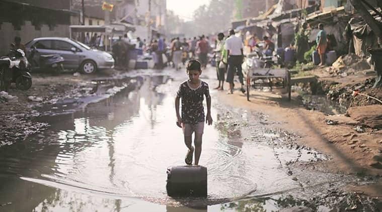 South Delhi slum, South Delhi slum water wars, Delhi slum water wars, water wars Delhi slum, India News, Indian Express, Indian Express News