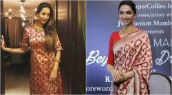 malaika arora, deepika padukone, celeb fashion, diwali fashion, celeb festive fashion, bollywood news, fashion news, indian express, entertainment news
