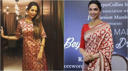 Malaika Arora or Deepika Padukone: Who wore the Raw Mango red-and-gold weave better?
