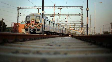 IP Extension-Maujpur Section: Delhi Metro test run on Pink Line stretch