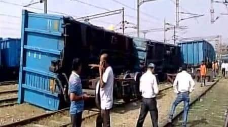 goods train derailment, train derailment in Mathura, Mathura train derailment, Mathura goods train derailment, train derailment, train derailments 2017, indian express news