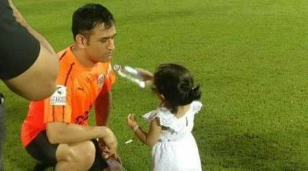 MS Dhoni's daughter Ziva offering him water is the cutest video you will watch