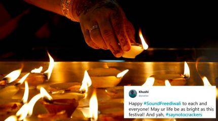 This Deepavali, Twitterati are celebrating with a #pollutionfree and #crackerfreeDiwali