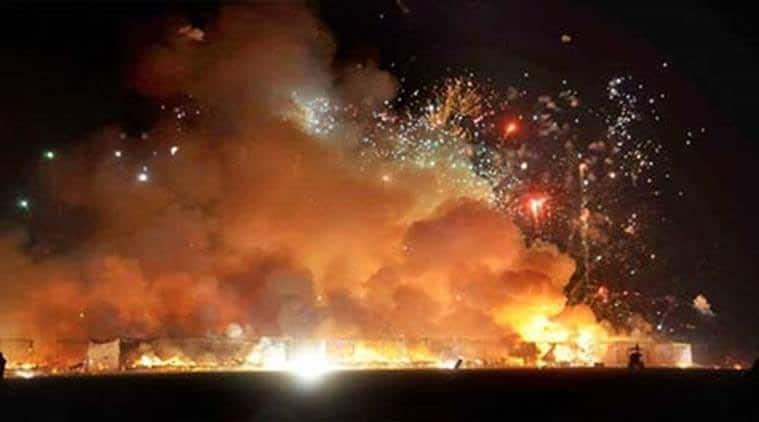 Diwali, firecracker explosion, Agra firecracker explosion, Uttar Pradesh, Up news, Indian express