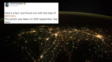 Astronaut shares lit-up pic of India; turns out, it was not of Diwali –again!