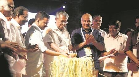 At Delhi-Kerala fest, Arvind Kejriwal and Pinarayi Vijayan call for unity against divisive forces