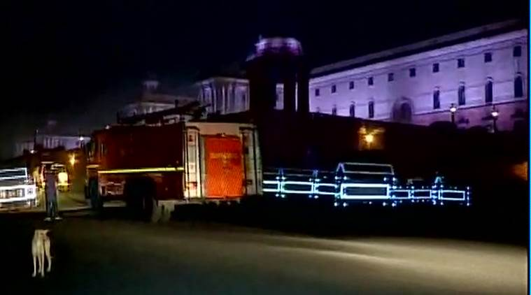 PMO, Prime MInister Office, Fire accident, Fire in PMO, Narendra Modi, PM Office, South Block, South block fire, North Block, Ministry of Defence, India News, Indian Express