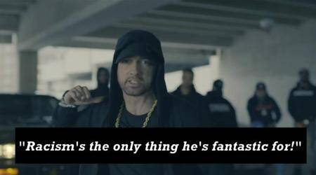 VIDEO: Eminem TEARS APART Donald Trump in freestyle rap 'The Storm'