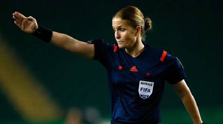 Esther Staubli, female referee, FIFA u 17 world cup, FIFA u 17 world cup female referee, Japan vs New Caledonia, Football news, indian express