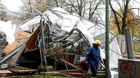 Strong winds batter central Europe, killing at least five