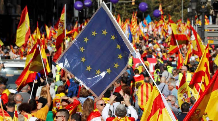 eu, european union, catalonia, brexit, spain, independence referendum, britain, catalan independence vote, divided europe, germany, world news, indian express