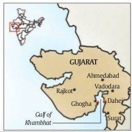narendra modi, PM Modi, Ghogha-Dahej ferry, gujarat, ferry service, ferry, gujarat ferry service, india news, indian express news