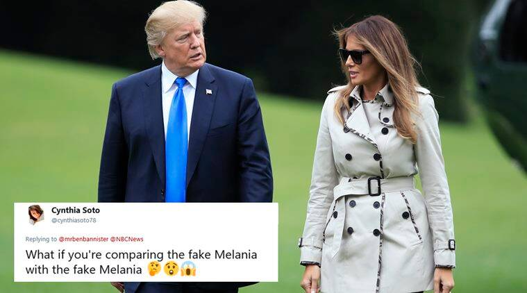 Melania Trump, Melania Trump body double, fake Melania Trump, Melania Trump decoy, trump fake melania, melania body double, conspiracy theories, fake melania conspiracy, donald trump, usa news, world news, indian express