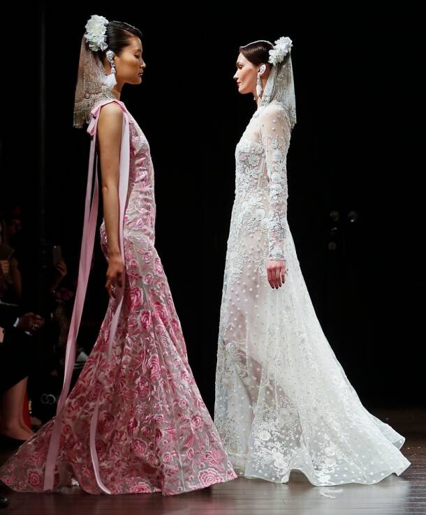 Naeem Khan, Naeem Khan latest designs, Naeem Khan bridal designs, Naeem Khan New York fashion, Naeem Khan veils fashion, Naeem Khan bridal veils, indian express, indian express news