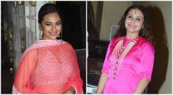 sonakshi sinha, rani mukherji, sonakshi sinha fashion, rani mukherji fashion, sonakshi sinha latest photos, rani mukherji latest photos, diwali, diwali parties in bollywood, celeb fashion, bollywood fashion, indian express, indian epxress news