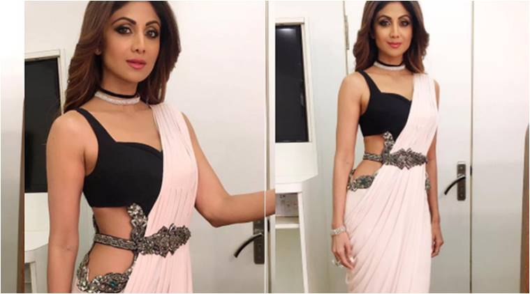 Shilpa Shetty, Shilpa Shetty latest photos, Shilpa Shetty fashion, Shilpa Shetty sari looks, Shilpa Shetty ethnic fashion, Shilpa Shetty super dance 2, indian express, indian express news