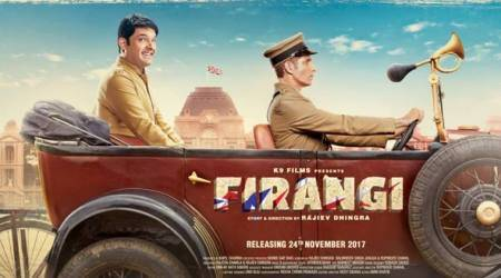 Firangi new poster: Kapil Sharma is all smiles in an antique vehicle. What is he upto? See photo