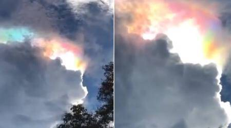 VIDEO: Stunning footage of a fire rainbow in Thailand goes viral