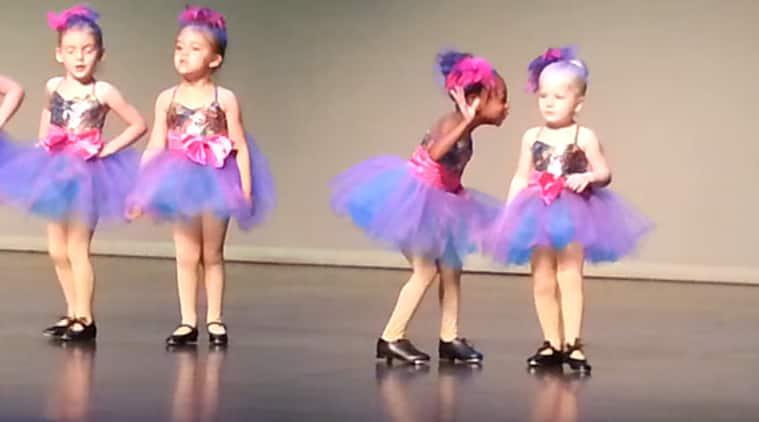 cute girls dancing, cute girls dancing video, cute girls dance recitals, preschool dance recitals, preschool dance performance, social media viral, viral video, indian express, indian express news