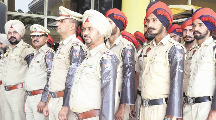 Mohali police foot patrolling, diwali 2017, Mohali Police, Chandigarh police foot patrol, punjab police foot patrolling, chandigarh news, indian express news