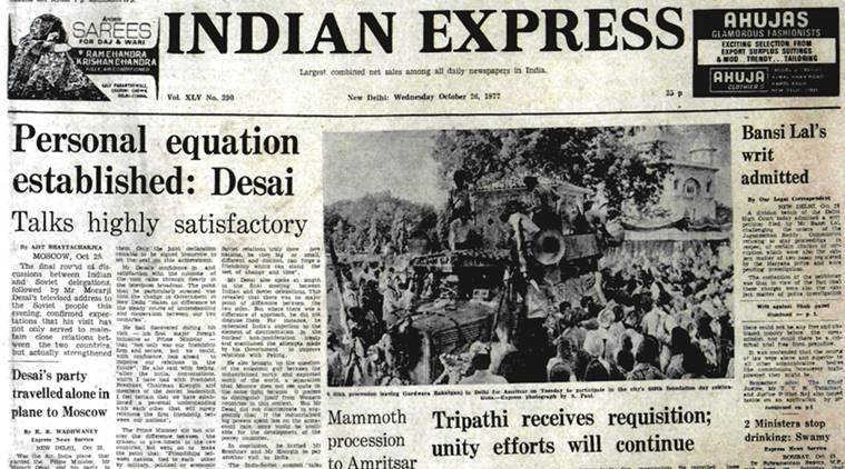 Indira Gandhi,Morarji Desai, Soviet union, Subramanian Swamy,I.G. Patel, indian express