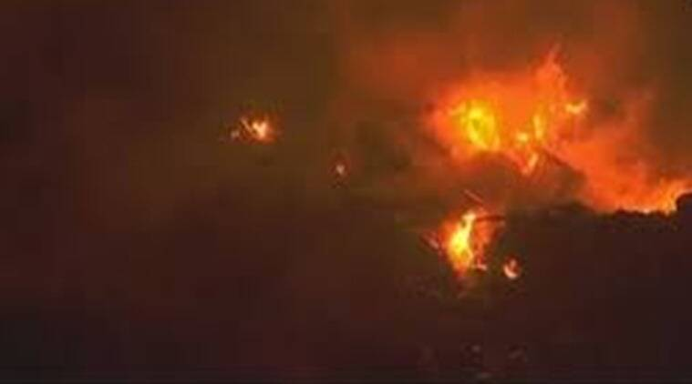 Ghazipur landfill site, Ghazipur landfill fire, Ghazipur fire, Fire Ghazipur Landfill, Fire Ghazipur Landfill Site, Delhi News, Latest Delhi News, Indian Express, Indian Express News