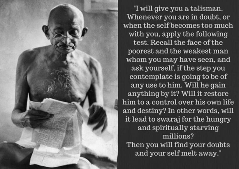 Gandhi Inspirational Quotes About Life