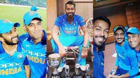 India vs Australia, Australia tour of India 2017, MS Dhoni, Hardik Pandya, Virat Kohli, sports gallery, cricket gallery, Indian Express