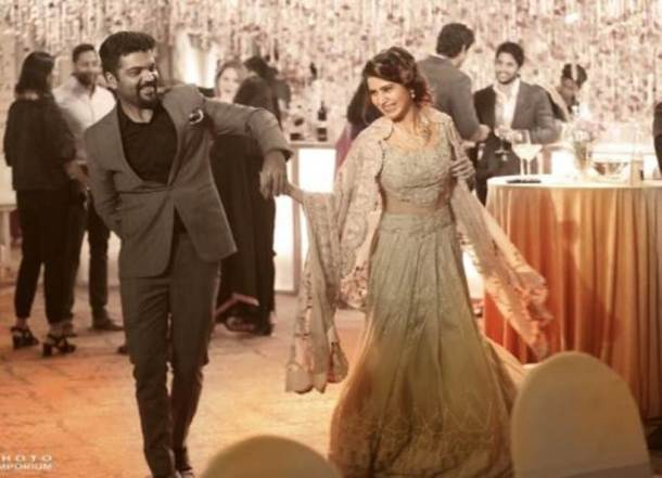 samantha ruth prabhu, naga chaitanya, samantha ruth prabhu reception, samantha naga chaitanya reception