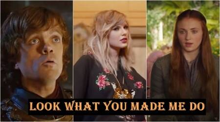 taylor swift, taylor swift song, game of thrones, look what you made me do taylor swift, game of thrones series, Indian express, Indian express news, viral videos