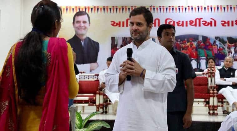 rahul gandhi gujarat visit, rahul gandhi gujarat yatra, rahul gandhi gujarat visit live updates, rahul gandhi navsarjan yatra, rahul gandhi chhota udaipur, congress rahul gandhi, india news