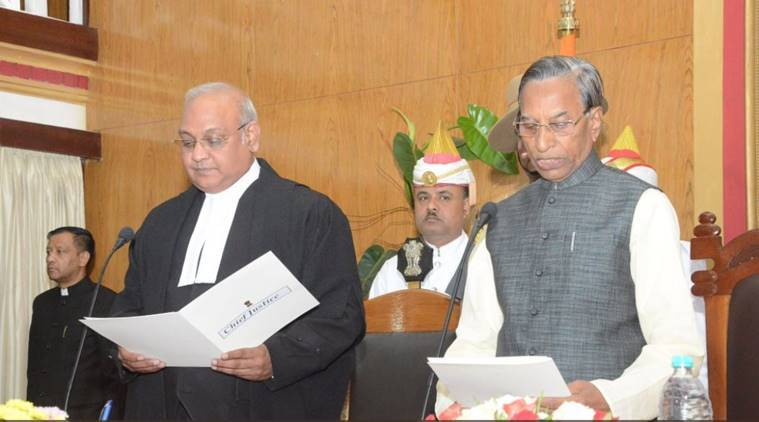Ganga Prasad, Meghalaya Governor, new Meghalaya Governor, B Purohit, V Shanmuganathan, indian express news