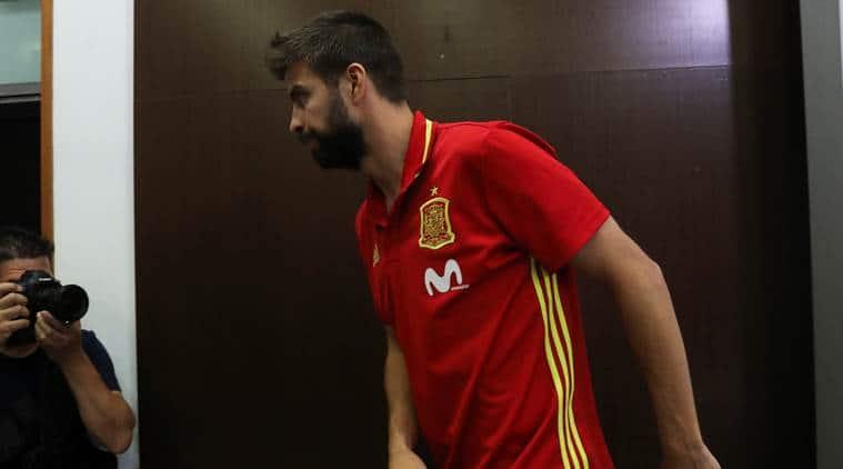 Gerard Pique, Gerard Pique Barcelona, Gerard Pique Spain, sports news, football, Indian Express