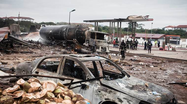 Ghana gas station explosion, ghana gas station, ghana explosion, ghana news, indian express news