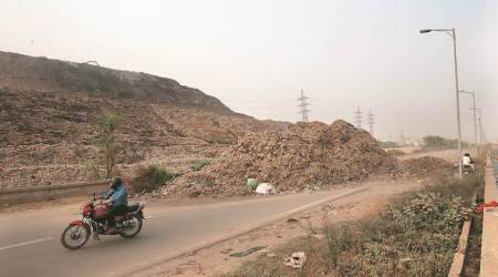 Ghazipur landfill collapse: A month on, pile of garbage strewn across road unnerves residents