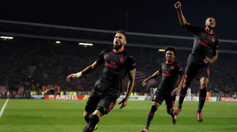 Europa league results, Arsenal Europa League, Olivier Giroud, Everton Europa League, football news, sports news, indian express